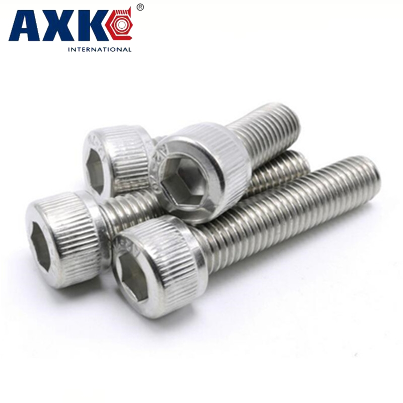 AXK 10Pcs Din912 M5 M6 DIN912 304 Stainless Steel Hexagon Socket Head Cap Screws Hex Socket Bicycle Bolts 14pcs lot tangle free debris extractor replacement kit for irobot roomba 800 900 series 870 880 980 vacuum robots accessory pa