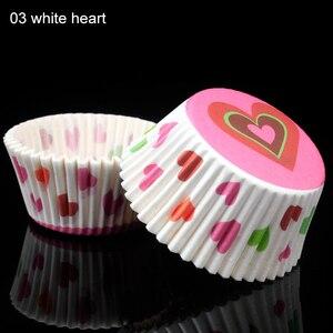 Image 4 - Tazas de papel para hornear, 100 Uds., caja de torta pequeña antiaceite, accesorios de cocina, forro para cupcakes, herramientas de decoración de pasteles