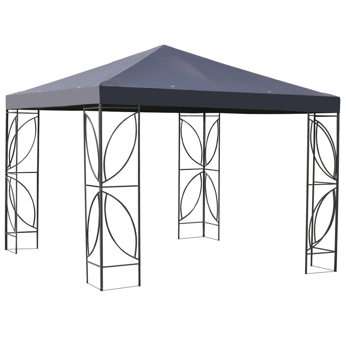 Goplus Patio 10\' X 10\' Square Gazebo Canopy Tent Steel Frame Shelter ...