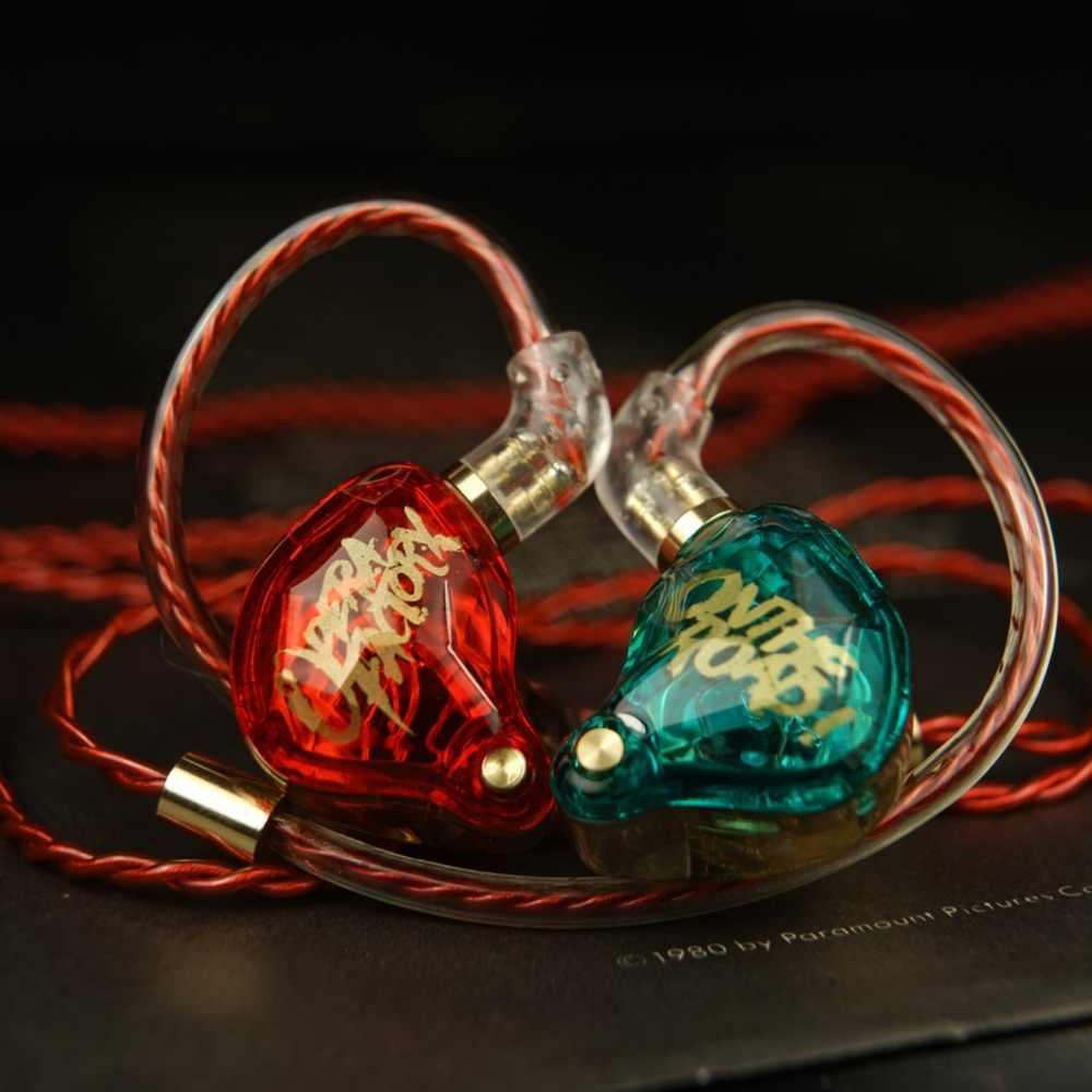 Новый OM1 аудио Алмазный бас DJ супер НЧ наушники, гарнитура наушник 2Pin HIFI наушники 3,5 мм в ухо наушники динамический привод