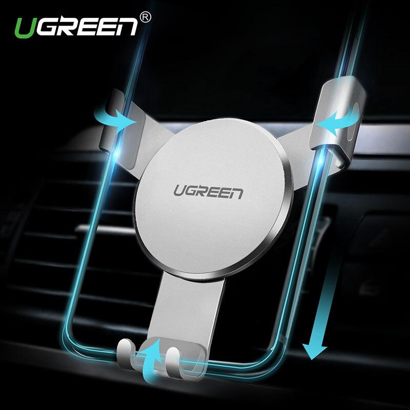 Ugreen Gravité Réaction De Voiture Support Téléphone Support Universel Grille D'aération montage Clip Support de Téléphone portable pour l'iphone 7 Samsung Xiaomi GPS