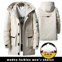 New winter men long coat white duck down mens clothing off white goose down jacket winter coat men fake designer clothes