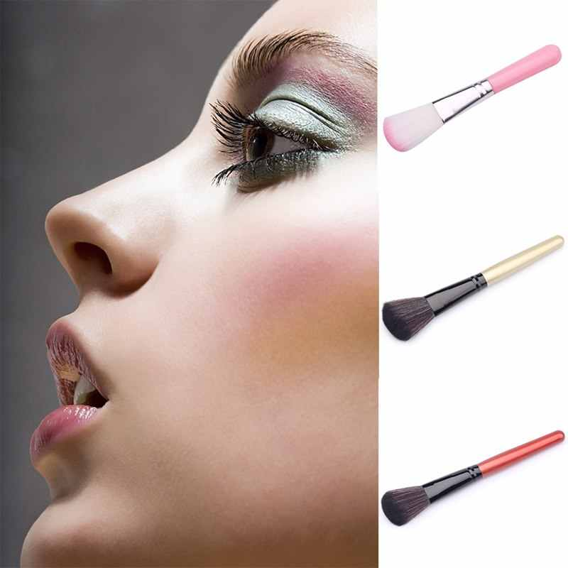 1 pc גדול רך פנים קונטור איפור מברשת אבקת קרן סומק מברשת איפור קוסמטי כלי גבות פנים שפתיים מברשת