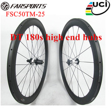 Super performance carbon cycling wheels with top hubs DT 180s & Sapim cx-ray , FSC50TM-25 road bike wheels tubular 50mm x 25mm