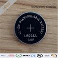 Alta calidad 20 unids/lote LIR2032 3.6 V Li on recargable del botón de la moneda sustituye CR2032 para relojes