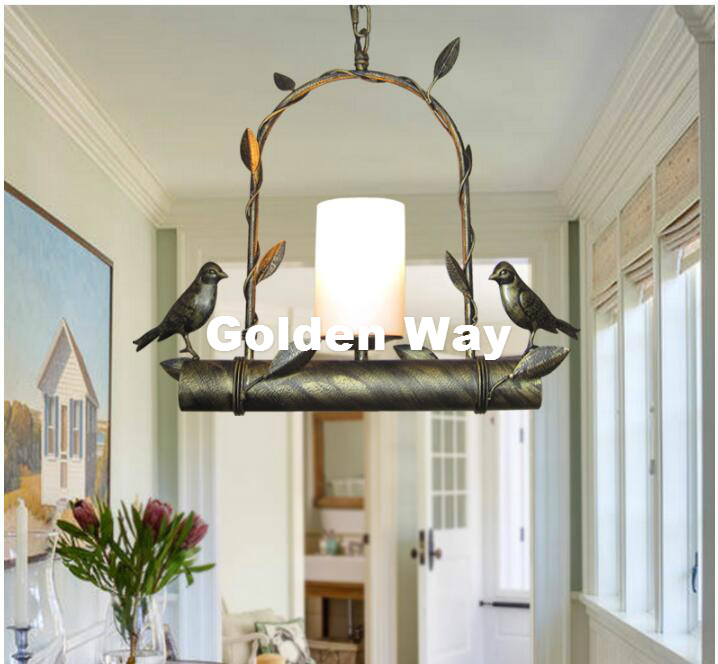 Free Shipping Modern Nordic Bird Pendant lamps LED lamp led lustre light Black Gold Bird Pendant light dining room LED bulbs free shipping modern dining table designs discount lamp shades