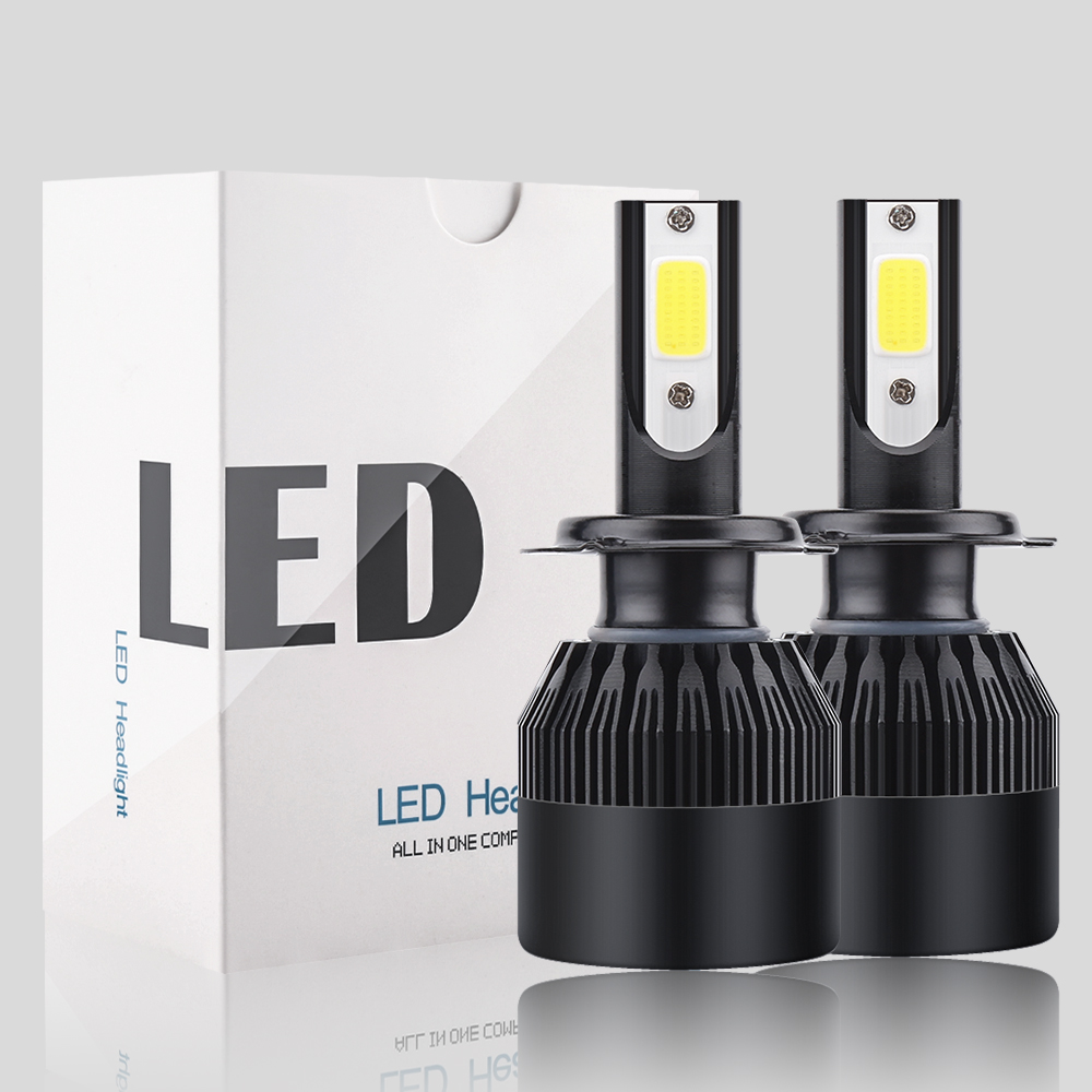 2 pcs Car <font><b>Led</b></font> Headlight Bulbs <font><b>Lamp</b></font> H4 <font><b>H7</b></font> H11 72W/pair H8 HB4 H1 HB3 Auto Car High Low Beam 6000K 12V <font><b>Head</b></font> <font><b>Light</b></font> C6 16000Lm image