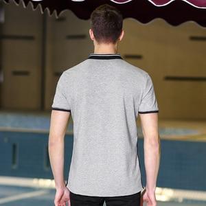Image 4 - פיוניר מחנה חדש קצר חולצת פולו גברים מותג בגדי פשוט מקרית טלאים polos זכר למעלה איכות 100% כותנה אפור ACP703084
