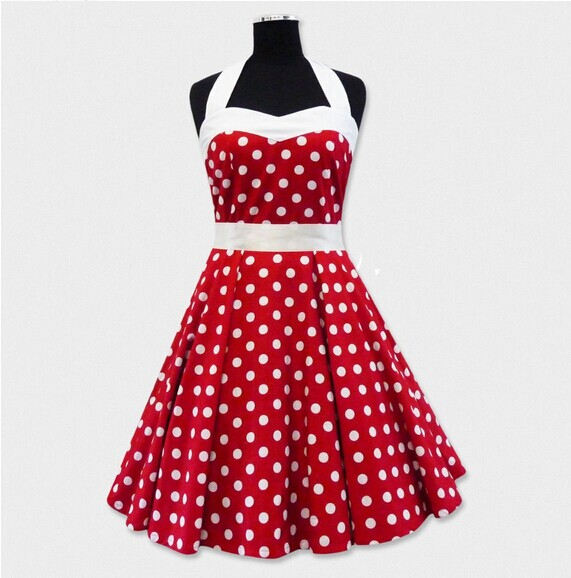 Popular Red White Polka Dot Dress-Buy Cheap Red White Polka Dot ...