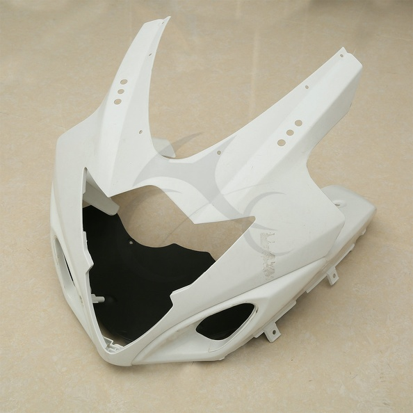 Unpainted White Upper Front Fairing Cowl Nose For SUZUKI GSXR1000 K5 2005-2006 unpainted white injection molding bodywork fairing for honda vfr 1200 2012 [ck1051]