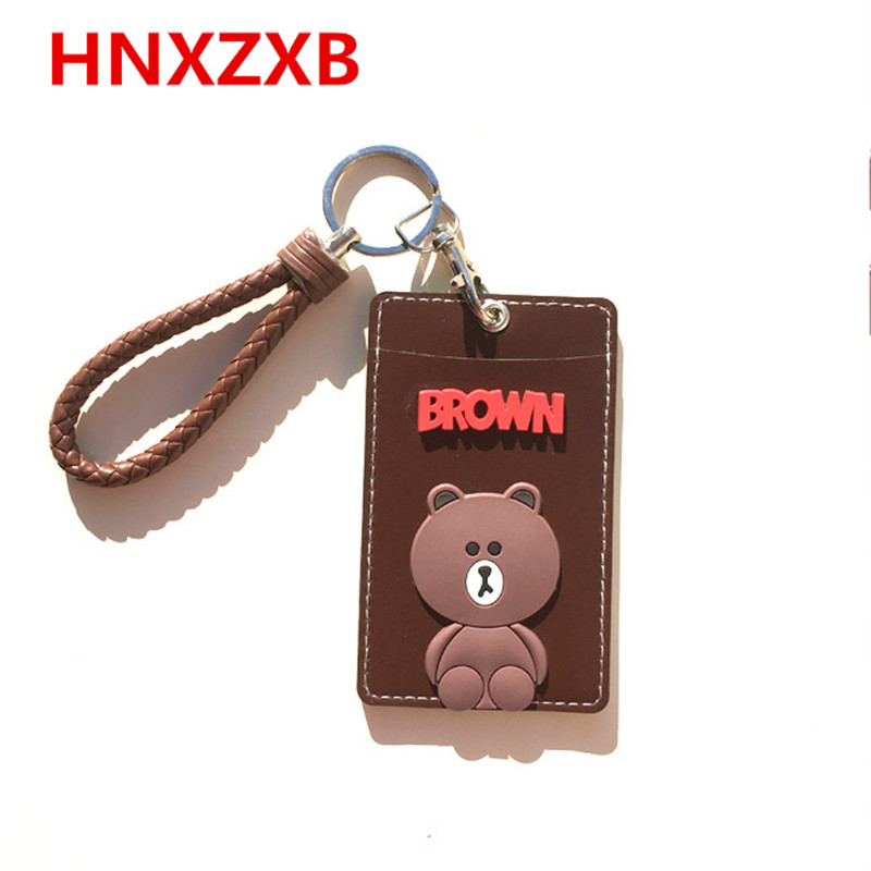 Cute card case Key holder Bank Credit Card Holders Card Bus ID Holders Identity Badge with Cartoon Retractable Reel Kid Gift fhadst no zipper cheap bank credit card holders bus id holders identity red yellow blue badge with retractable reel wholesale