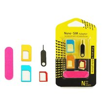5 in 1 Metal Micro SIM Card To Standard Adapter Converter Set Card Slot SIM Card Case Set Tools For iPhone Android Mobile Phone