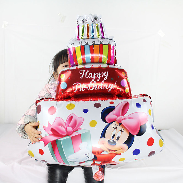 Aliexpress Buy New 20pcs Large Mickey Minnie Three Layer Cake