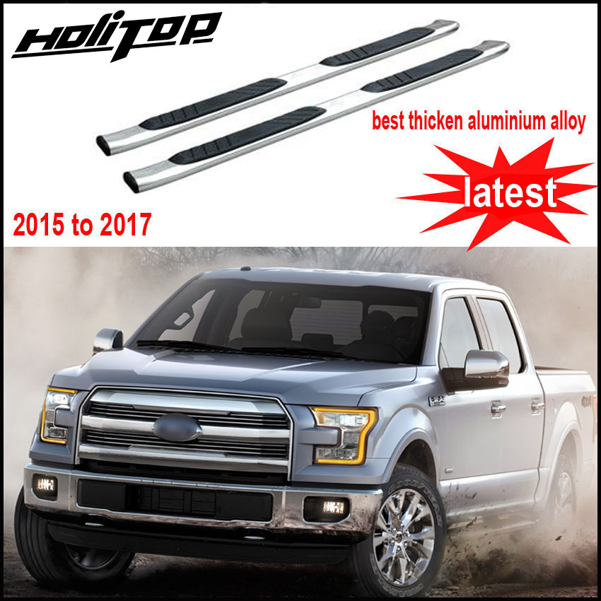 hot for ford F 150 F150 2015 to 2017 side step side bar foot board pedal treadplate,thicken stainless steel,Asia free shipping.