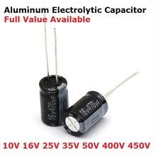 Condensador electrolítico de aluminio, 20 piezas, 35V, 470uF, 100UF, 220UF, 330UF, 470UF, 47UF, 680UF, 10UF, 22UF, 4V, 10V, 16V, 25V, 35V