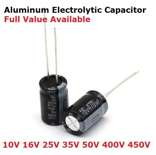 Алюминиевый электролитический конденсатор 35 в 470 мкФ 100 мкФ 220 мкФ 330 мкФ 470 мкФ 680 мкФ 47 мкФ Ф 1000 мкФ 10 мкФ Ф 22 мкФ, 4 в 10 в 16 в 25 в 35 в, 20 шт.