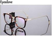 Eyesilove מסגרות אופטיות TR90 הקלאסי האופנה רטרו acetate משקפיים מסגרות לגברים נשים מרשם קוצר ראייה או קריאה