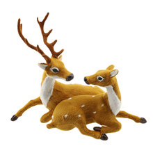 2Pcs/Pack Simulation Couple Deer Christmas Creative Cute Lovers Gift Home Decor