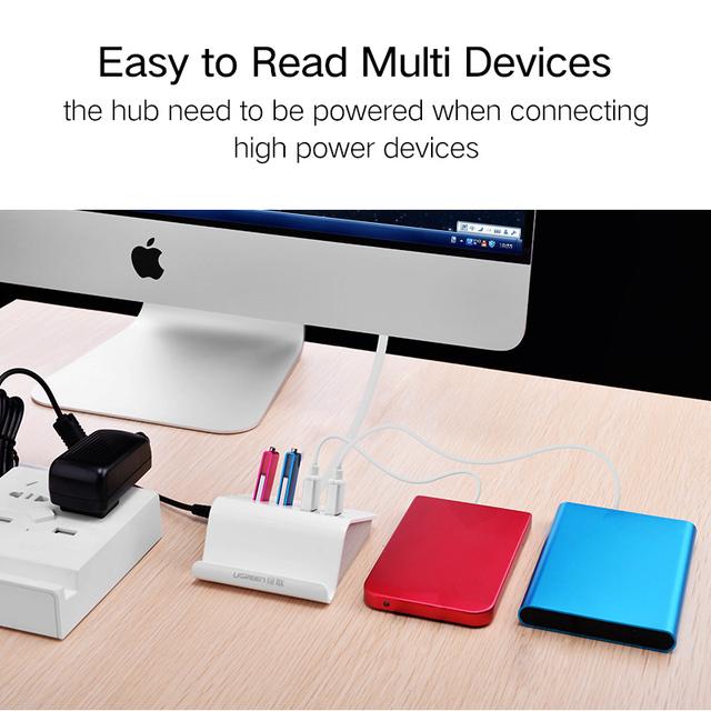 USB 3.0 Hub with Phone Holder