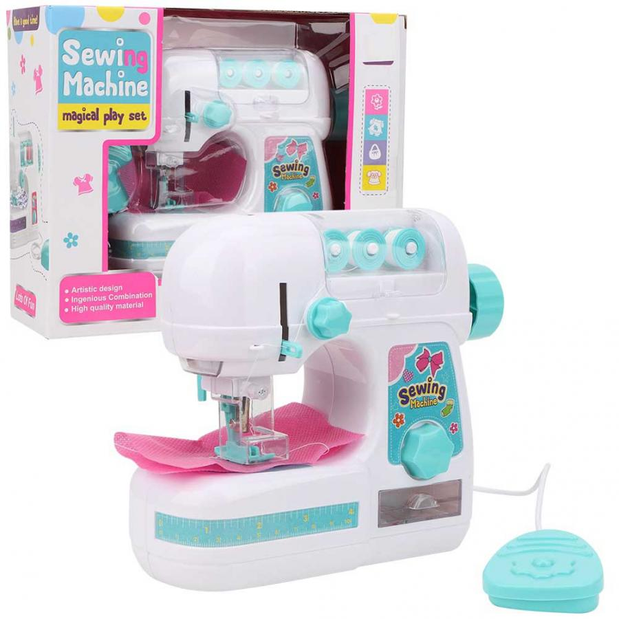 Mini Sewing Machine Toy Small Household Manual Electric Children Sewing Machine Toys Set Kids Mini Furniture Pretend Playing Toy