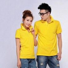 Женская рубашка-поло с логотипом на заказ, рубашка-поло из хлопка с коротким рукавом, печать на заказ, повседневная, AT023