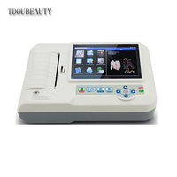 Veterinary 6 Channel ECG / EKG Machine with Printer and Paper and USB Software 600G VET, 12 Leads 3/6 Channel Machine