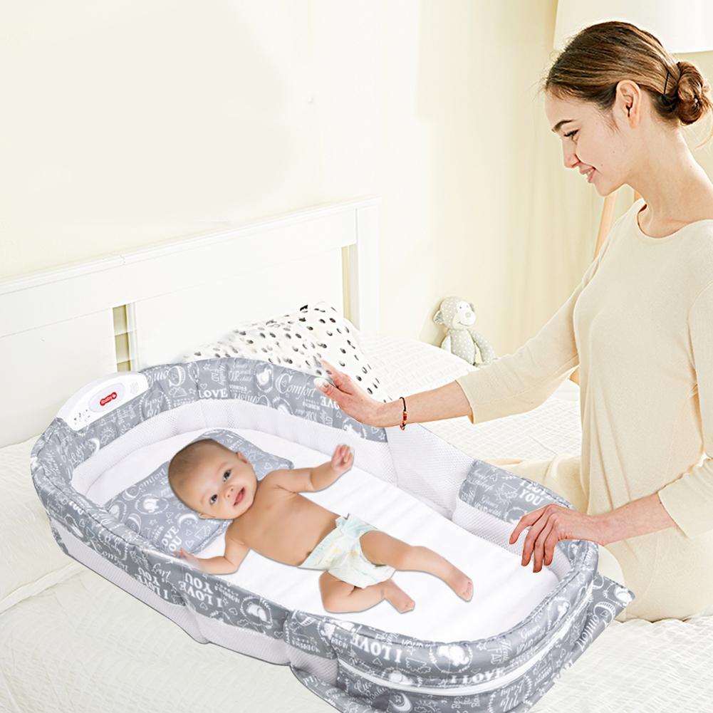 Baby Travel Bed Can Hold Baby Stuff, Infant GO TO TRAVEL Baby Sleeper Mini Travel Bed Bassinet, Multifunctional Backpack Bed