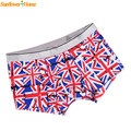 Newly Design Mens Comfy Soft UK Flag Boxer Seamless Underwear Panty 160722 Drop Shipping
