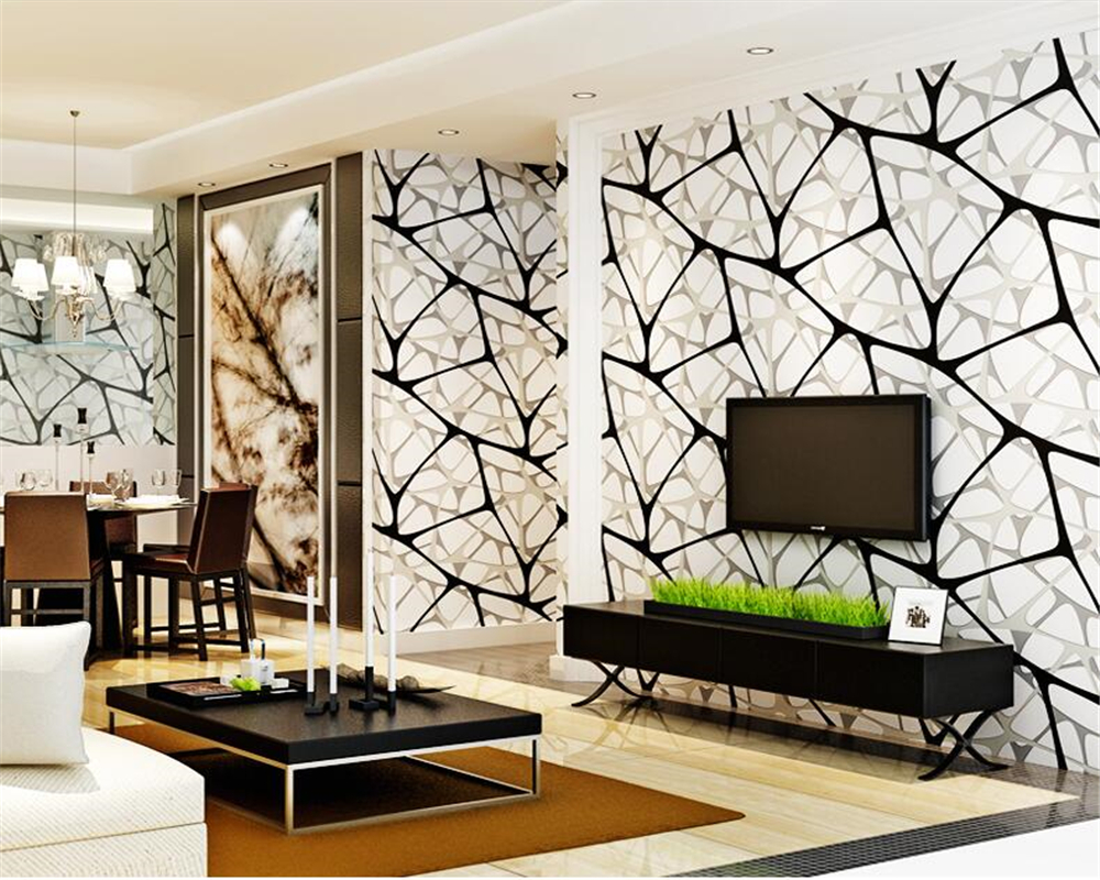 Modern high quality 3D TV background wall video wall 3D non-woven bedroom living room wall papers home decor behang Beibehang home improvement modern solid color non woven wallpaper for walls roll bedroom living room tv background wall papers home decor