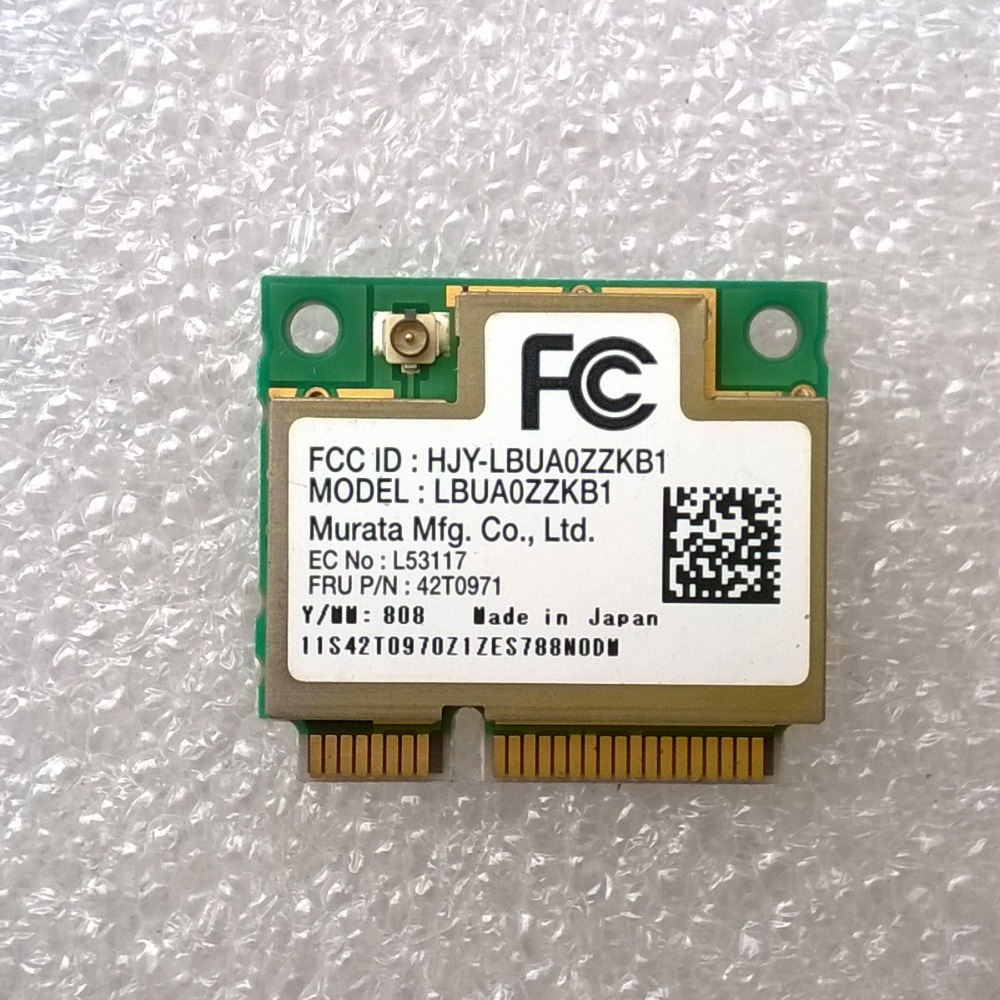 US $10 0 |WUSB Mini PCI E Wifi Adapter Card LBUA0ZZKB1 For Lenovo Thinkpad  x200 x300 t400 Series, FRU 42T0971-in Network Cards from Computer & Office
