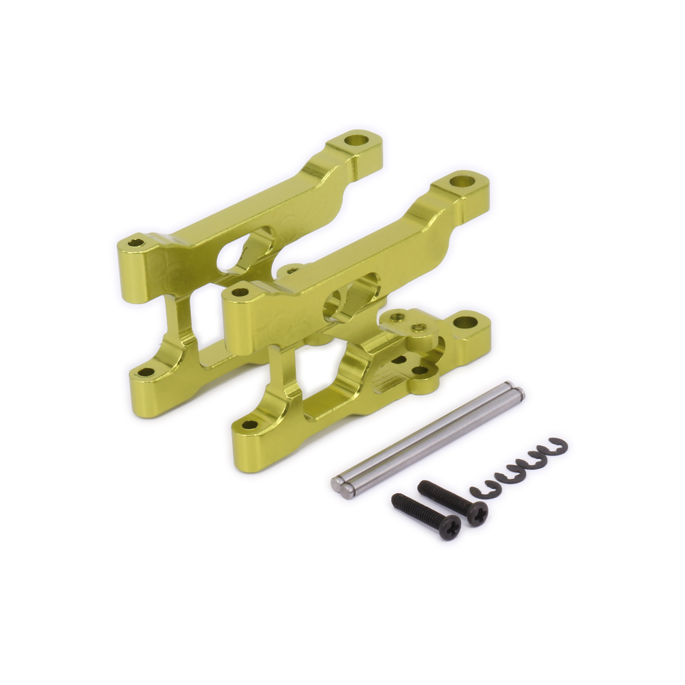 2Pcs Alloy Front Lower Suspension Arm For Rc Model Car 1-12 Wltoys 12428 12423 0004 a-Arm Monster Truck Short Course s-Course metal spur differential main gear 62t 0015 for wltoys 12428 12423 1 12 rc car crawler short course truck upgrade parts