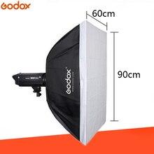 Godox 23.6″x 35.4″/60*90cm Speedlite Studio Strobe Flash Photo Reflective Rectangular Softbox Diffuser BW60*90 For Bowens Mount