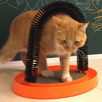Cat Toys Pet Cat Arch Self Groomer Massager Groom Toy Pet Cat Scratcher Toys Fur Grooming Cat Toy Brush Controls Shedding