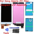 For Sony Xperia Z3 Mini LCD Compact D5803 D5833 LCD Display touch screen with digitizer glass Assembly + Tools + Adhesive white