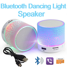 754d05ae708 Wireless Bluetooth Speaker Portable Mini LED Light Speaker Small Stereo  Sound Hand-free TF USB