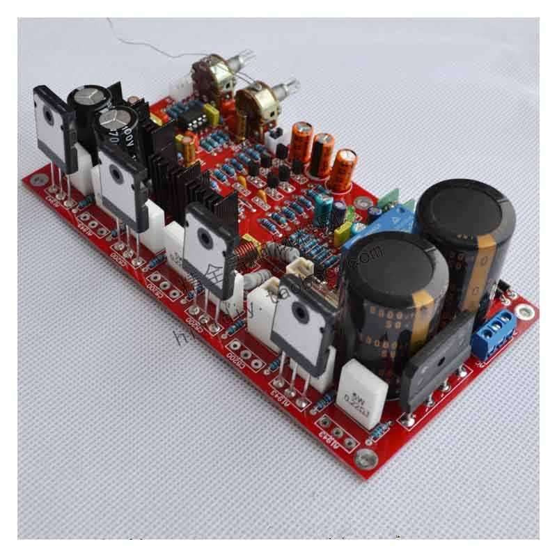 Kaolanhon Dual 26V-32 AC Đầu Ra Công Suất 300 W Sốt hoạt động loa siêu trầm bảng mạch khuếch đại hai cặp ống C5200/A1943
