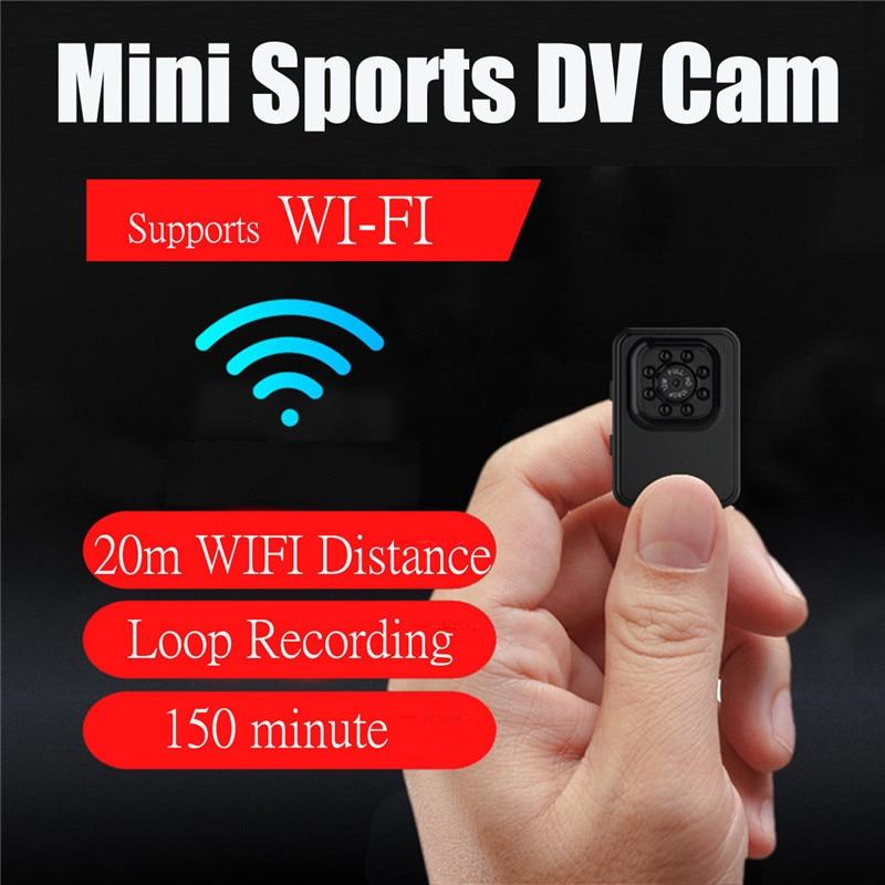 New R3 Mini Camera WiFi HD 1080P Micro Camera IR Night Vision Mini Sports DV Cam Loop Recording for Hiking Support 32G TF Card cheerson cx 20 cx20 rc quadcopter original parts sports hd dv camera 12 0mp