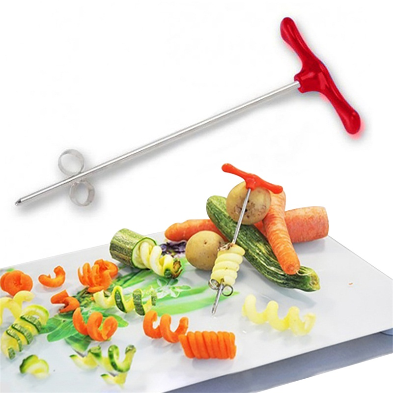 Kitchen Gadget Cooking Tools Vegetable Slicer Potato Spiral Cutter Manual Roller French Fry Cutter Making Twist Shredder Grater