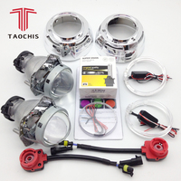 TAOCHIS 3.0 inch Bi xenon Hella 3r g5 Projector Lens HID D1S D3S D4S D2S Shroud Devil Angel Eyes Head Lamp Upgrade Demon eye
