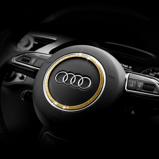2015 Audi Sq5 Interior: 1pc Luxury Crystal Car Steering Wheel Bling Decoration For