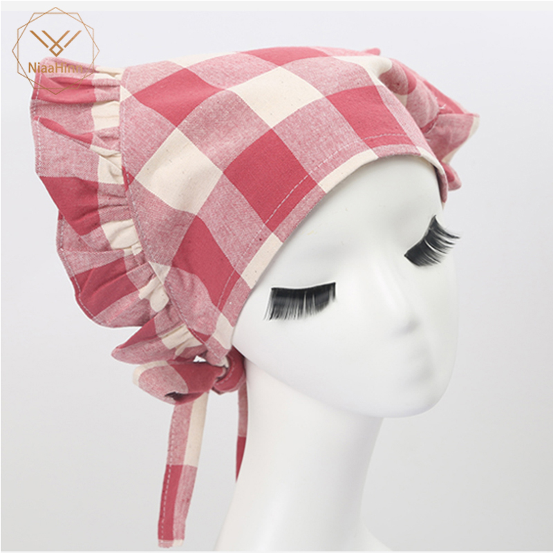 NiaaHinn Cooking Cap Cafe Restaurant Working Cap Chef Hat Cloth Waitress Women Kitchen Baker Chef Elastic Cap Hat Catering
