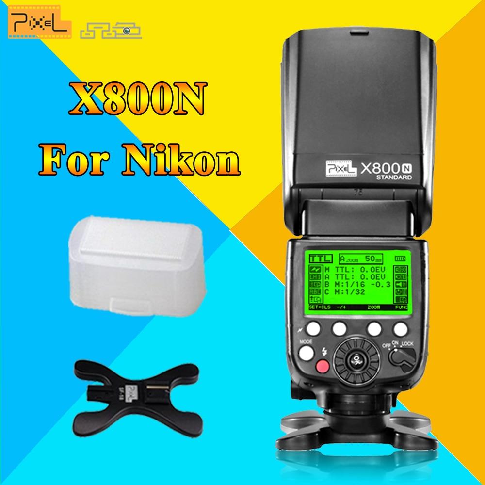 Pixel TTL Wireless 1/8000S HSS Flash Speedlite Speedlight X800N Standard For Nikon D7100 D7000 D5100 D5000 D600 DSLR Camera вспышка для фотоаппарата nikon speedlight sb 5000 sb 5000