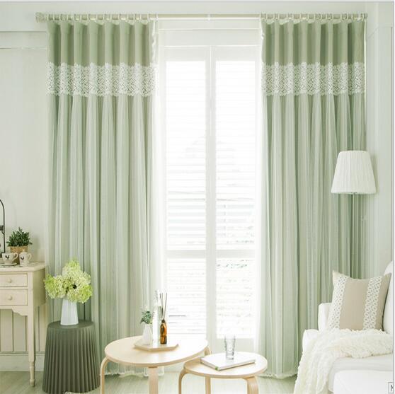 Girls Bedroom Curtains Elegant Bedroom Colors Bedroom Cabinet Door Designs Pinterest Bedrooms For Girls: Patchwork Elegant Lace Pure Color 2 Layer Window Blackout
