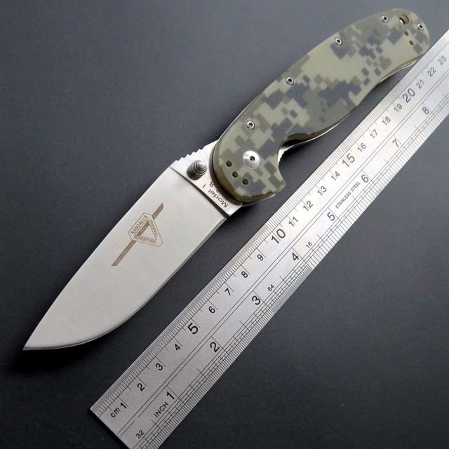 Eafengrow หนูมีด R1 ยุทธวิธีมีดพับ AUS 8 ใบมีดพกพามีด G10 จับเครื่องมือกลางแจ้ง EDC Camping Survival มีด