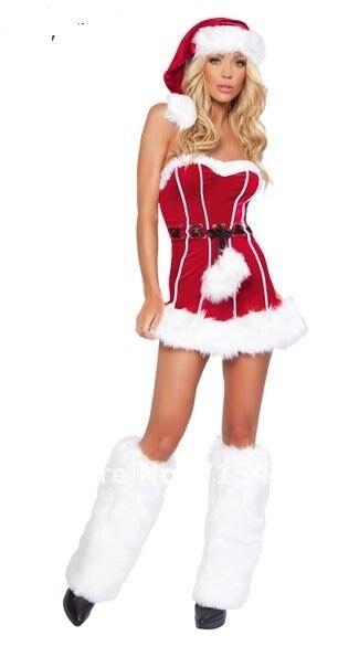 Free Shipping Christmas Costume Sexy Santa Girl Costume