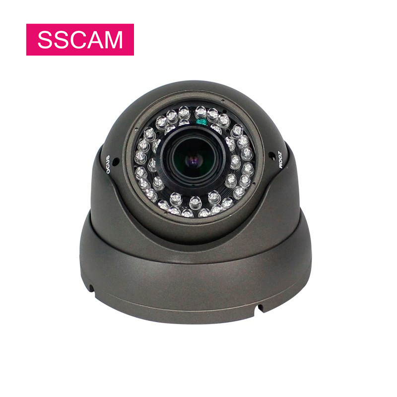 Home Security 5MP AHD CCTV Camera Dome 2.8-12mm Manual Varifocal 30 Meters Night Vision Infrared High Resolution Analog Camera