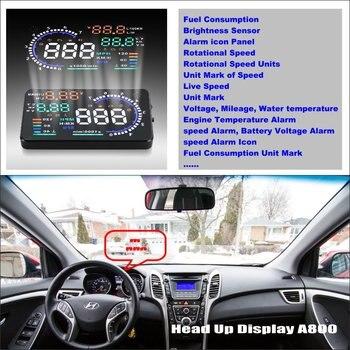 Car HUD Head Up Display For Hyundai Avante / Elantra (Asian) 2011~2015 - Safe Screen Projector Inforamtion Refkecting Windshield