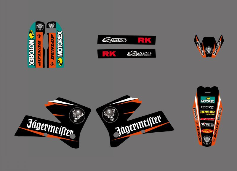 Decal Sticker Motorcycle for KTM SX 125 250 380 400 520 2005 2006 Graphics Bakcgrounds Stickers Accessories New deisgn hot sale in Decals Stickers from Automobiles Motorcycles