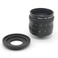 50mm f1.8 C mocowanie APS-C czujnik kamery CCTV Obiektyw obiektywy z C-N1 pierścień adaptera Dla Nikon1: V1, J1, V2, J2