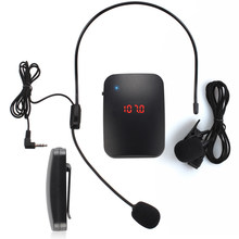 Tourist Guide Multipurpose Wireless Teacher Car Microphone Portable Lectures FM Transmitter Audio Headset And Lapel Loudspeaker(China)